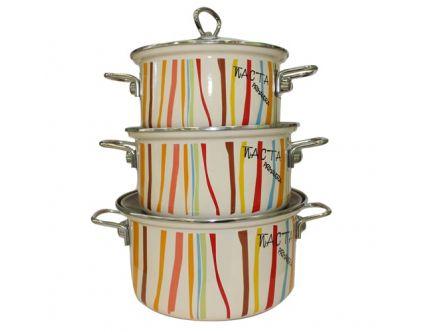 Эмалированная посуда! Покрыта экологически чистыми эмалями, высокая коррозионноя стойкость, гигиеничность и долговечность.
