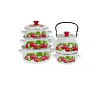 Набор посуды эмалированной КМЗ Вишневый сад