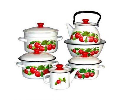 Набор посуды эмалированной КМЗ Вишневый сад СА-1