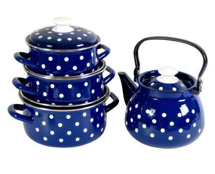 Набор посуды эмалированной КМЗ Моника-3С Синий