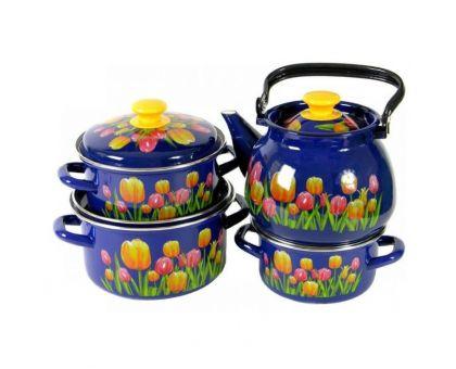 Набор посуды эмалированной КМЗ Майский букет
