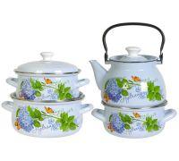 Набор посуды эмалированной КМЗ Гортензия