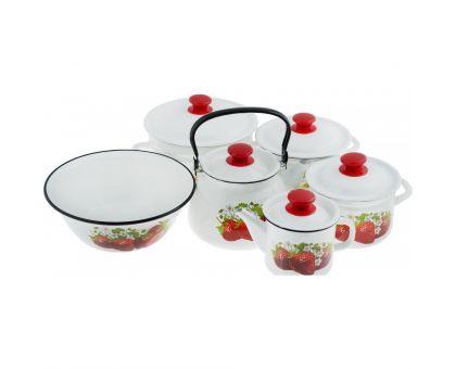 Набор посуды эмалированной КМЗ Садовая клубника СА-3