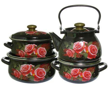 Набор посуды эмалированной КМЗ Розалия